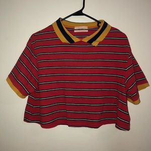 women's urban outfitters crop top polo